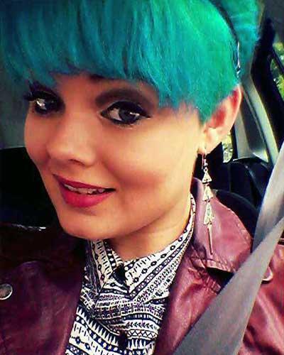 Haare grün färben