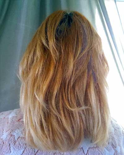 Haare rot blond färben