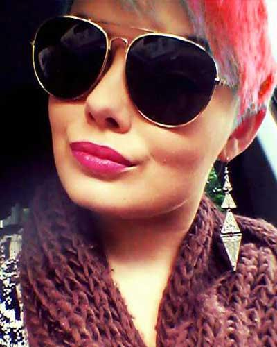Haare rot türkis färben